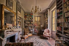 A room full of Books (Photography by Linda Lu) Tags: lostplace lostplacesfrance scavenger urbanexploring urbex urban abandoned abandonedhome livingroom