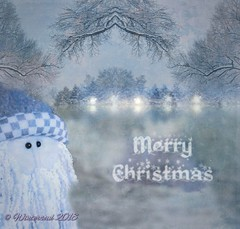 christmas card, version 2, Santa in a Winter Landscape......2018 11 13 (wintersoul1) Tags: christmas xmas christmasgreeting santa
