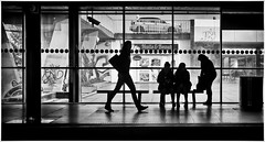 Silhouettes (kurtwolf303) Tags: silhouettes gegenlichtaufnahme kurtwolf303 mft olympusem1 microfourthirds persons people mirrorless spiegellos personen streetphotography street monochrome einfarbig bw sw backlight prag praha metrostation prague