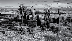 Broken (David Feuerhelm) Tags: nikkor abandoned engine winch metal rust old shingle beach coast boat dungeness wideangle monochrome kent uk england bw blackandwhite noiretblanc schwarzundweiss blancoynegro broken d750 nikon 2470mmf28 contrast