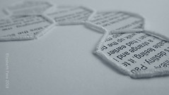 Blocks of text (Landanna) Tags: embroidery embroideryonpaper broderi broderipåpapir borduren bordurenoppapier text tekst bullionknot paperart paperwork paper papier papir handmade handgemaakt handwerk håndlavet white wit hvid