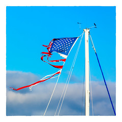 State of the Union (Timothy Valentine) Tags: 2018 1018 flag politics large divided discord sky tatters sliderssunday