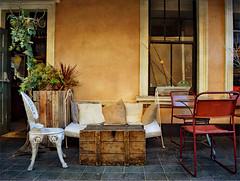 Take a Seat (Jocelyn777) Tags: shops market shopfronts cafes furniture walls doorsandwindows chairs tables greenwich london textured