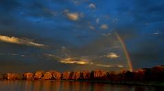 RainbowSunriseFinally1 (Rich Mayer Photography) Tags: rainbow rain bow sun rise sunrise morning evening set sunset weather nature water clouds sky skies lake nikon