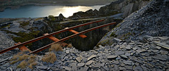 Over the edge (PentlandPirate of the North) Tags: railway track cart dinorwic slatequarry dinorwig snowdonia gwynedd rusty rails