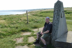 Celebrating at the end of the Yorkshire Wolds Way (Bods) Tags: clevelandwaymonument walk yorkshirewoldsway fileycountrypark yorkshirewoldswaymonument clevelandway yorkshirewoldswayday5 gantontofileywalk northyorkshire filey fileybrigg