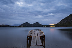 Serenity (panos_adgr) Tags: nikon d7200 long exposure evening lake water clouds blue hour landscape view limni vouliagmeni loutraki greece minimum processing wood dock