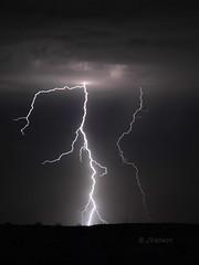 Electrical Storm (VenturaMermaid) Tags: weather thunderstorm monsoon lightning strike cloudtoground electrical bolt canon arizona desert cloudsstormssunsetssunrises