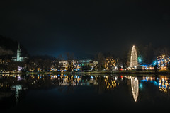 Christmas lights in Bled lake sLOVEnia (Torok_Bea) Tags: christmas bled bledlake lake nikon nikond7200 nikon1680 nikon1680mm night nightshot nightcity nightpic slovenia wonderful advent lakebled lovely beutiful longexpo longexposure december hellodecember holiday 2018 advent2018