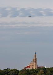 A C-17 Flies over the Basilica (ep_jhu) Tags: airforce c17 cargo aircraft washington 7d basilicaofthenationalshrineoftheimmaculateconception airplane cua canon dc globemaster basilica districtofcolumbia unitedstates us