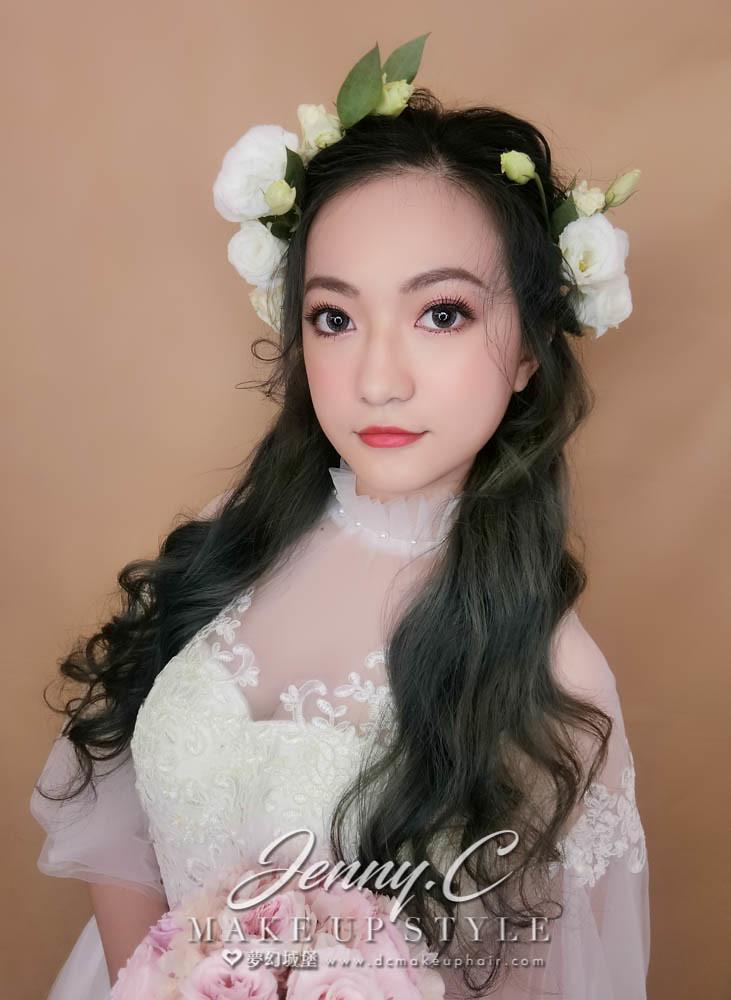 【新秘蓁妮】新娘造型創作 / 浪漫鮮花造型