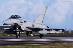 Royal Air Force, Typhoon FGR4, ZK337. (M. Leith Photography) Tags: royal air force raf typhoon jet lossie lossiemouth moray morayshire scotland sunshine nikon 200500mm nikkor mark leith photography fast sky airplane aircraft fgr4 qra