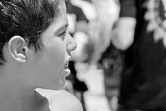 A boy (a l o b o s) Tags: bw cute portrait boy brasil brazil brazilian candid chico garoto janeiro copacabana rio de