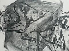 Original body study (detail) by Ben Heine from 2002 - Etude originale de Ben Heine, 2002 (Ben Heine) Tags: art originalart benheineart dessin drawing originaldrawing artwork charcoal artstudy fusain illustration paper avendre artforsale artiste artist portrait coolandaffordableoriginalsforsale expressive expressionism ballpointpen ballpointart bic sketches collage painting étude