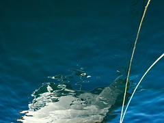 Prow (andressolo) Tags: reflections reflection reflejos ripples water sea agua mar ship ships yacht boat boats barco rope