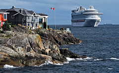 ON YOUR DOORSTEP (shoebox50) Tags: cruiseship tourists victoriabc canada vancouverisland expensivehomes olympuspenf capitalcity pacificocean