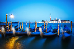 Swaying in the Blue (matt.kueh) Tags: venice venedig gondolas bluehour longexposure sonyilce7m2 sonyfe1635mmf4zaoss stmarkssquare