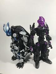 Makuta Miseuron and Toa Raphael (HyperShadow623) Tags: bionicle bioniclemoc legobionicle moc makuta toa phantoka lego legomoc