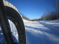 Pushing along the Dempster Highway