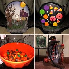 Howloween 🎃👻🍭 (happyhungergameofthrones) Tags: ghosts jackolanterns stickers orange bowl lollipops cemetery graveyard hauntedtree hauntedhouse decorations owl witch harvestmix candycorn halloween