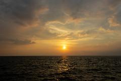 Sunset at the sea (Jack Fotografo) Tags: sunset sunrise horizon over water dramatic sky dusk sundown twilight setting sun daybreak seascape dawn ocean background beach beautiful beauty cloud coast color evening landscape light nature orange red reflection sea summer