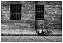 Bicycle In Amsterdam (Kam Sanghera) Tags: bicycle in amsterdam bike cycle black white bw jordaan nik silver efex dam