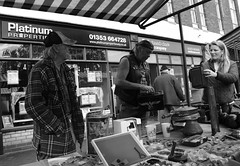 Old Bygones (Bury Gardener) Tags: bw blackandwhite monochrome mono nikond7200 nikon england eastanglia uk ely streetphotography street streetcandids snaps candid candids people peoplewatching folks 2018 market streetmarket
