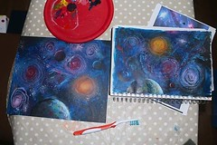 A bit of galaxy arty fun for one of my young students yesterday #acrylics ...always rewarding when they say they can't do it and then end up with the biggest grin on their faces after the result! #painting #students #youngartists #artist #galaxy #space (Tony Nero) Tags: artoftonynero tony nero art peterorough cambridgeshire creative out about craft paintings