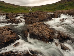 lush icelandic valley (Sébastjen) Tags: iceland westfjords valley lush green waterfall nature cold grass water long exposure omd olympus wide angle summer hike
