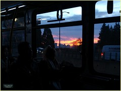 New Westminster Morning Bus BC18j04 LG (CanadaGood) Tags: canada bc britishcolumbia newwestminster sunrise bus people person traffic canadagood 2018 thisdecade color colour cameraphone morning
