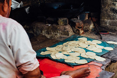Hand-Rolled Roti Dough, Baldeo India (AdamCohn) Tags: 012kmtobaldevinuttarpradeshindia adamcohn baldeo baldev india uttarpradesh dough geo:lat=27407930 geo:lon=77822331 geotagged holi roti wwwadamcohncom