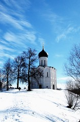 Church of the Intercession on the Nerl (msergeevna) Tags: nikon winter russia winterbeauty