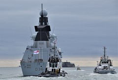 HMS Defender D36 (3) @ The Solent 08-10-18 (AJBC_1) Tags: england uk unitedkingdom ship boat vessel warship military royalnavy navy nato navalvessel rn hmsdefender d36 destroyer airdefencedestroyer britishmilitary ukmilitary dlrblog ©ajc britisharmedforces type45destroyer ajbc1 nikond5300 thesolent hampshire militaryvessel southsea tug tugboat sdindependent damen damenshipyardsgroup sercoltd harbourtug sdtempest sercomarineservices
