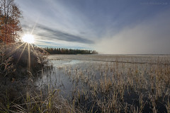 Syyskuun loppu - End of September (Janne Maikkula) Tags: syksy nature luonto ice maisema aurinko