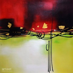 Low Notes, Art Painting / Oil Painting For Sale - Arteet™ (arteetgallery) Tags: arteet oil paintings canvas art artwork fine arts abstract painting background paint color red white colorful panting blue green orange texture yellow graphic bright shape grunge artistic backgrounds splash music note decorative organic