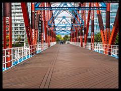 Crossing Detroit Bridge (jason_hindle) Tags: manchester unitedkingdom greatermanchester ipadair2 salford lightroomcc salforddocks autumn olympus1240f28 detroitbridge snapseed olympusomdem5 salfordquays