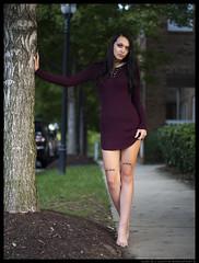 Amanda - Goosebumps (jfinite) Tags: model beauty fashion environmentalportraiture fall autumn legs barefoot brunette