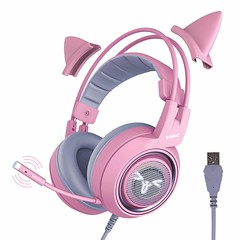 Cute And Catty Gaming Headset For Her (mywowstuff) Tags: gifts gadgets cool family friends funny shopping men women kids home