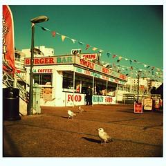 Brighton Seafront 2 (Jon Higham illustrator) Tags: lubitel166 tlr beach seaside pier brighton crazygolf sand seagulls