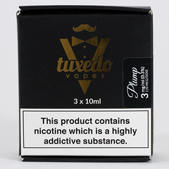 Tuxedo Vapes - Plump (VAPEPRODUCTPHOTOS) Tags: eliquid vape vaping vapour oxford aramax ara max 10ml 3mg 0mg 6mg 12mg 18mg box apple pg vg 500px tpd high