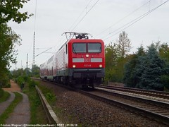 DB 112 148, Dresden-Stetzsch (der_bahnfotograf) Tags: zug rb 31 db deutsche bahn br 112 freie strecke foto dresden stetzsch bahnhof ende