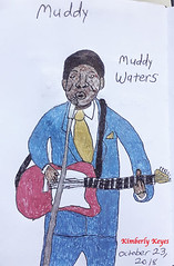 Inktober 2018 (kimsworldofart) Tags: inktober inktober2018 muddy waters drawing blues guitar singer fan art