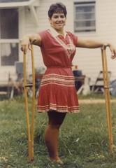 1060s Monopede (jackcast2015) Tags: amputee amputeewoman amputeelady disabledwoman disabledladies crippledwoman crippled crippledlady crutch crutches monopede