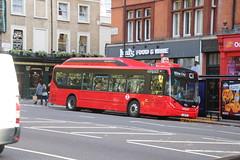 London United BE37021 (LJ18 FKF) (SelmerOrSelnec) Tags: londonunited ratp byd d9ur alexanderdennis enviro200 electric bus london southkensington bromptonroad c1