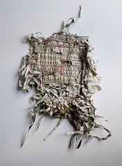 radical day (Ines Seidel) Tags: newspaper news paper fiberart fibreart paperart zeitungspapier zeitung words text headlines texture
