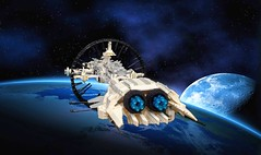 The Geszyner (NS Brick Designs) Tags: nsbrickdesigns lego shiptember2018 shiptember ship spaceship cruiser frigate vessel microscale starship starfighter craft spacecraft contest big moc creation build model
