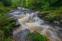 In Full Spate (daviddalesphoto) Tags: exmoor devon england watersmeet waterfall cascade river autumn