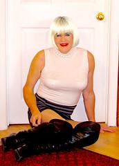 13 (donnacd) Tags: sissy tgirl tgurl dressing crossdress crossdresser cd travesti transgenre xdresser crossdressing feminization tranny tv ts feminized jumpsuit domina blouse satin lingerie touchy feely he she look 易装癖 シー