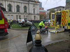 Emergency Services Road Traffic Collision Demonstration at Belfast City Hall, 16.10.2018 (John D McDonald) Tags: belfast cityhall belfastcityhall belfastcityhallgrounds donegallsquare donegallsquarenorth northernireland ni ulster geotagged iphone appleiphone iphone7plus appleiphone7plus reenactment reconstruction emergency emergencyreconstruction rta roadtrafficaccident roadtrafficcollision rtareconstruction rtcreconstruction roadtrafficaccidentreconstruction roadtrafficcollisionreconstruction emergencyservice emergencyservices emergencyservicereconstruction emergencyservicesreconstruction stretcher car renault clio renaultclio ambulance fireengine fireappliance firebrigade fireandrescueservice northernirelandfireandrescueservice firerescueservice northernirelandfirerescueservicenifirerescueservice nifrs