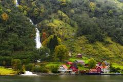 Rural Settlement (Pat_J1) Tags: houses fjord norway waterfall braycameraclub greystonescameraclub